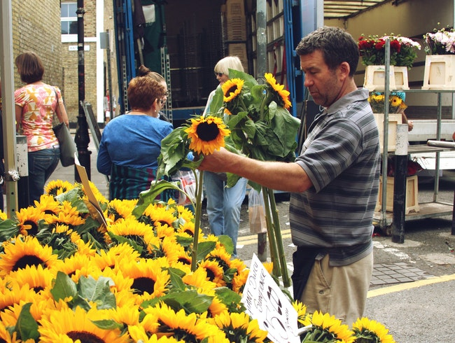 Stop and smell the flowers at Columbia Road Flower Market