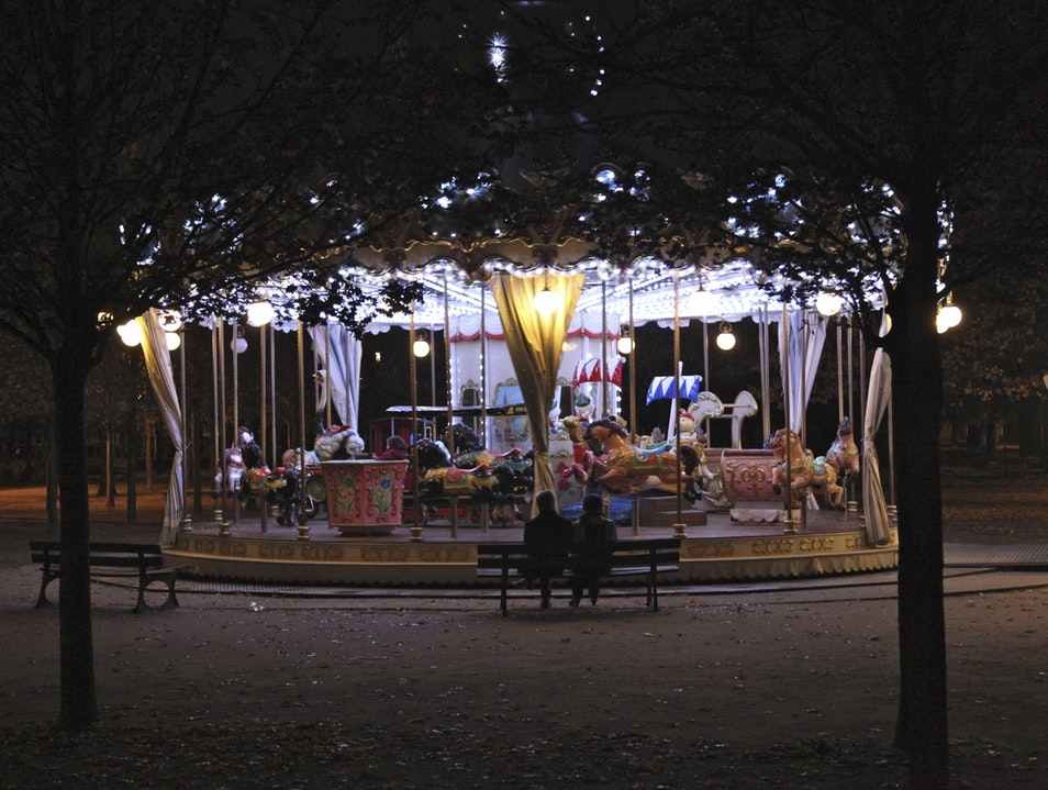 Tuileries at Night   France