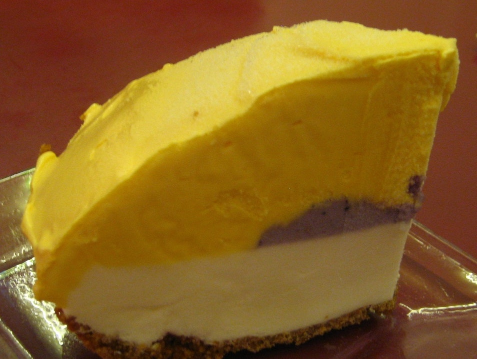 Homemade Mango, Coconut and Poi Ice Cream Pie Honolulu Hawaii United States