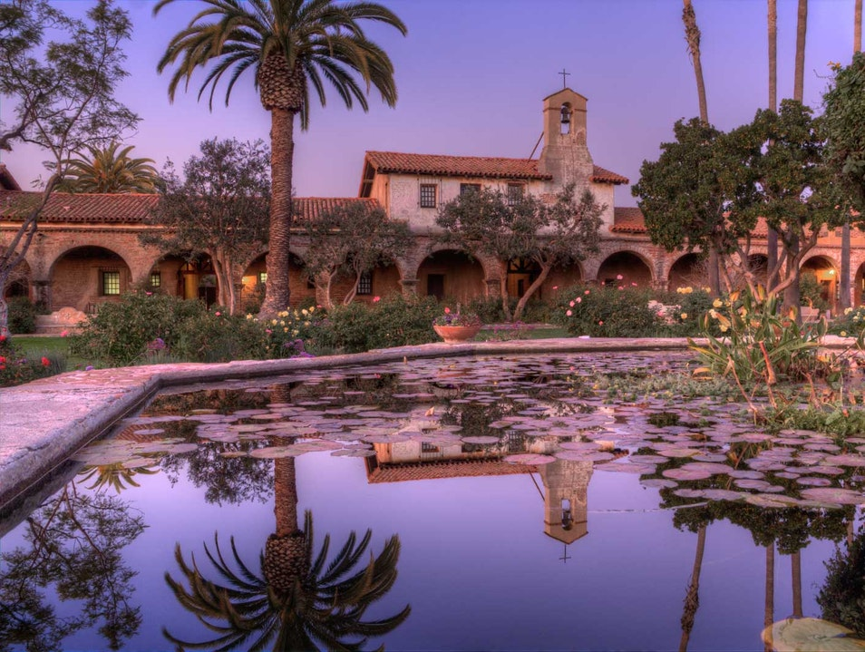 Capistrano Evening Reflection San Juan Capistrano California United States