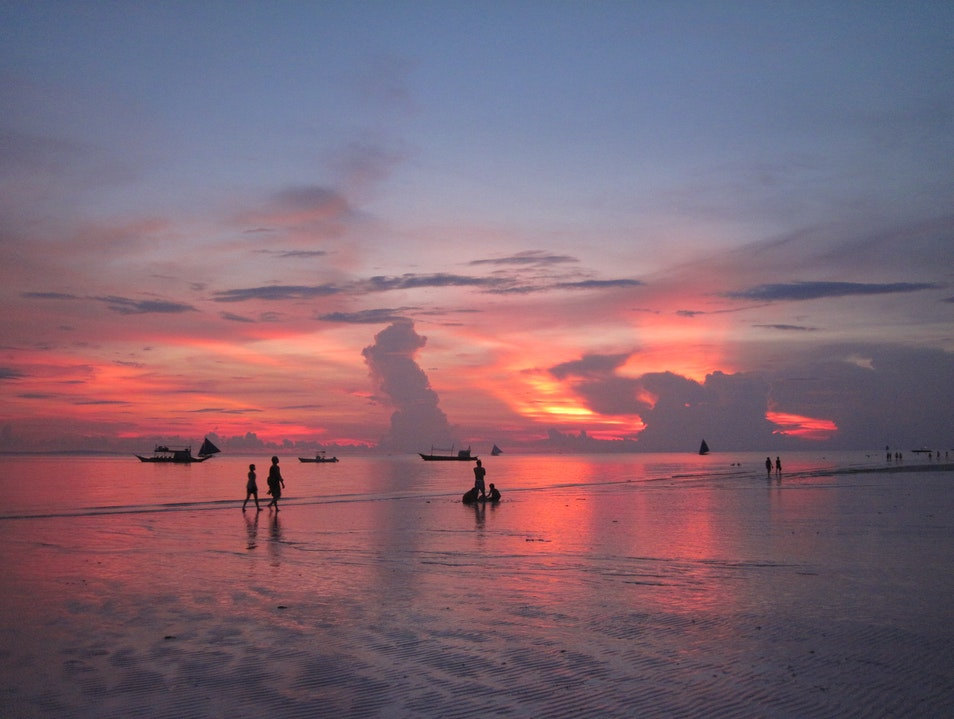 Always an Interesting Sunset at Boracay Malay  Philippines