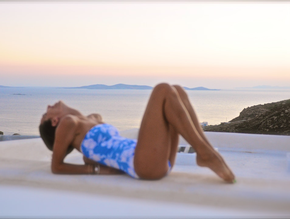 Enjoy the sunset perched atop a private villa in Mykonos, Greece Mykonos  Greece