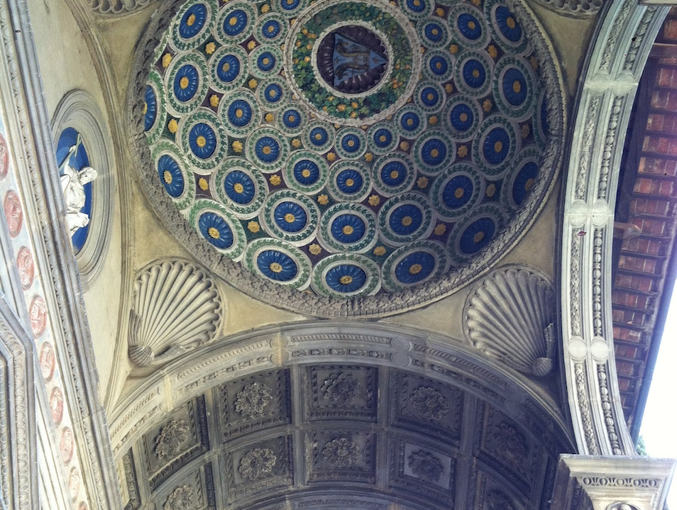 Ethereal ceilings inside Santa Croce Florence  Italy