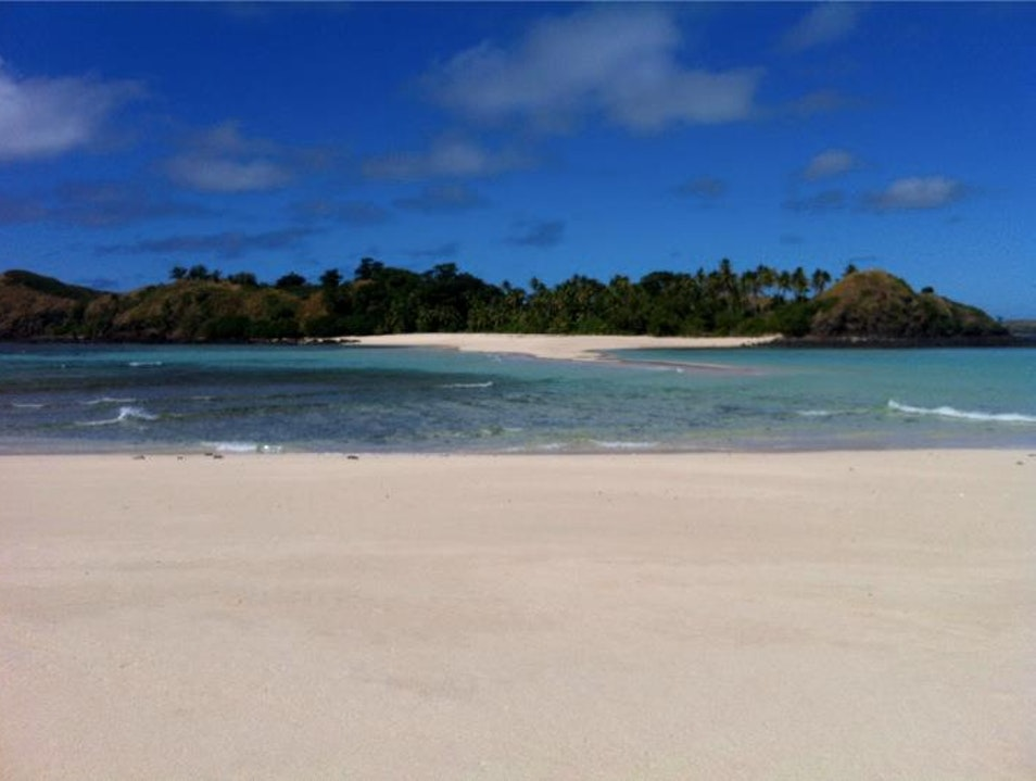 Private beach picnic on Yawini Island.   Fiji