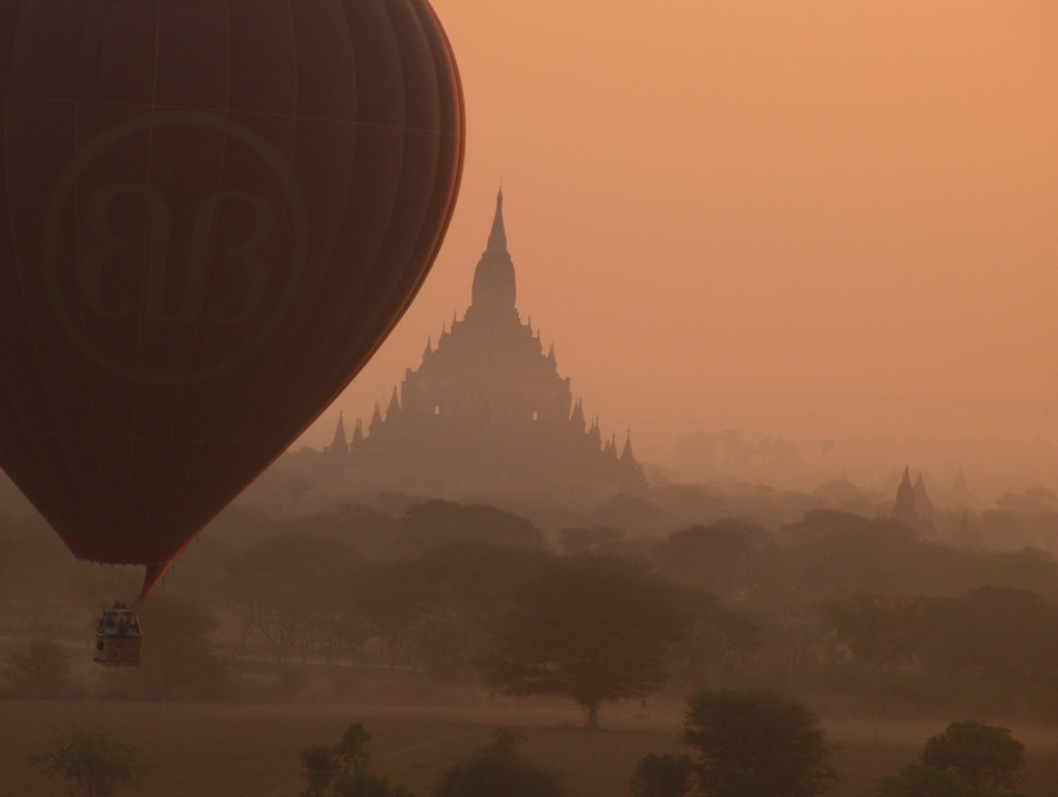 Balloon dance in Bagan Myingyan  Myanmar