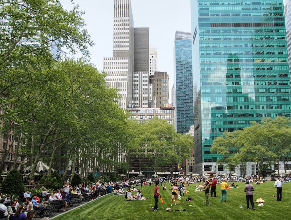 Partake in the fun at Bryant Park.  New York New York United States
