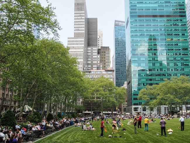 Partake in the fun at Bryant Park.