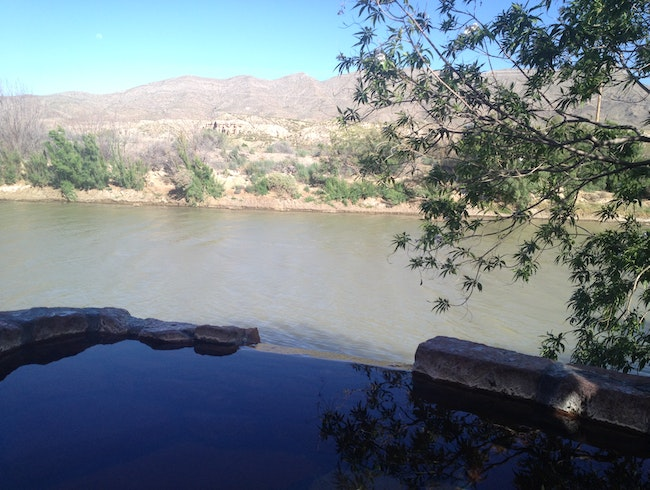 Soak in Mineral Springs with Views of the Rio Grande