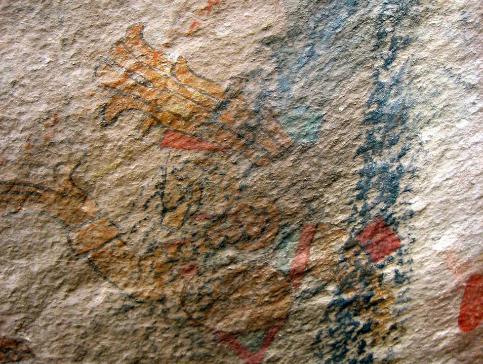 Cave paintings in Santo Tomás de los Plátanos State of Mexico  Mexico