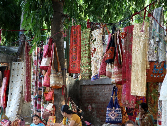 Traditional Textiles in Janpath