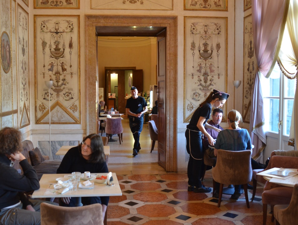 The Cafè at the Museo Correr Venice  Italy