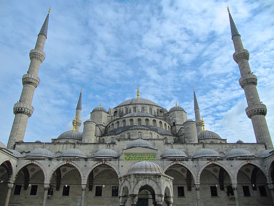 A Blue Sky for the Blue Mosque Istanbul  Turkey