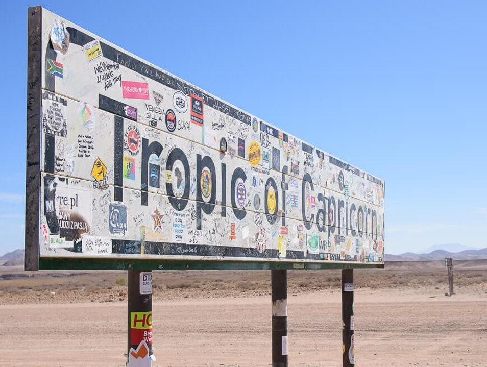 Stand on the Tropic of Capricorn in Namibia