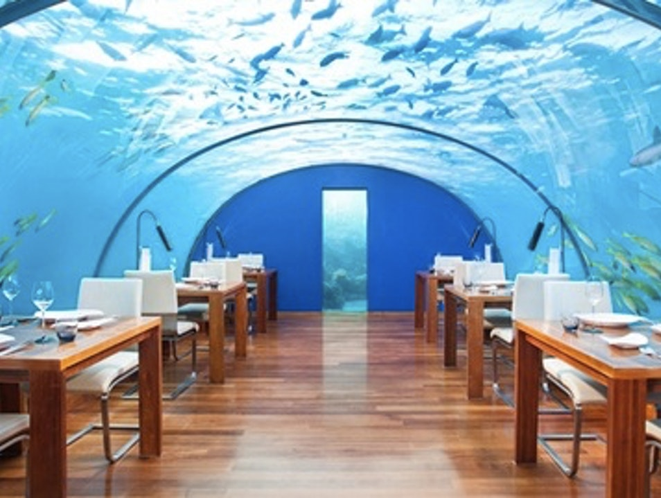 Dining Beneath The Sea at the Conrad Maldives Rangali Island