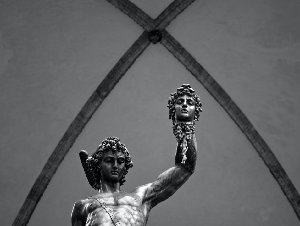 Perseus and Madusa Florence  Italy