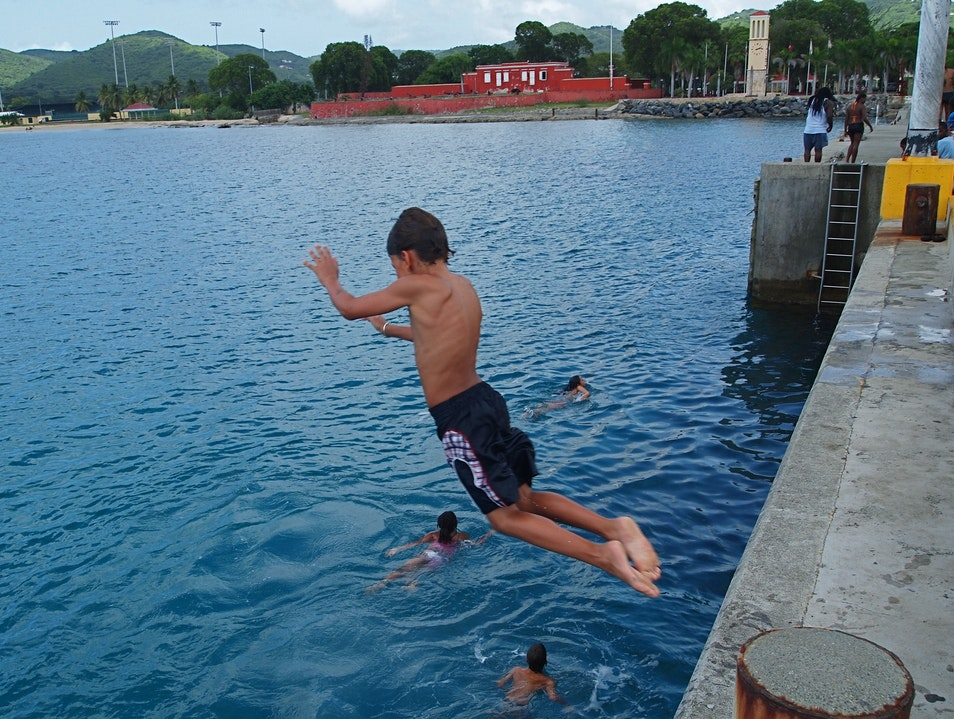 Jump Into Fun At the Frederiksted Pier Frederiksted Southeast  United States Virgin Islands