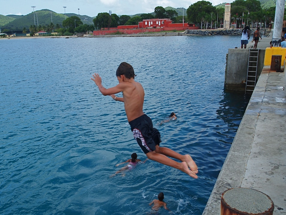 Jump Into Fun At the Frederiksted Pier