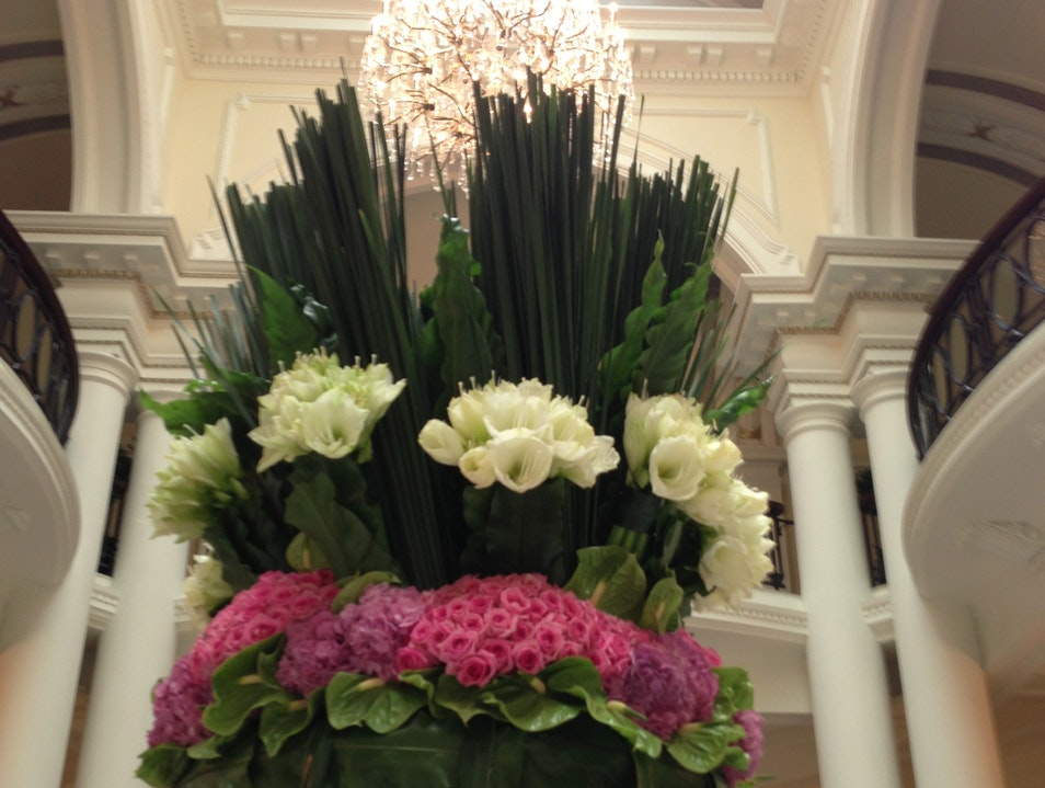Flowers at the Waldorf Astoria Shanghai  China