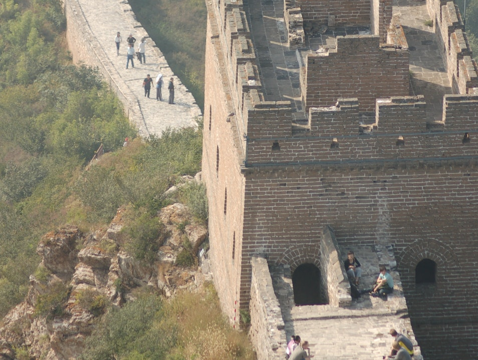 Climbing the Great Wall at Simatai Beijing  China