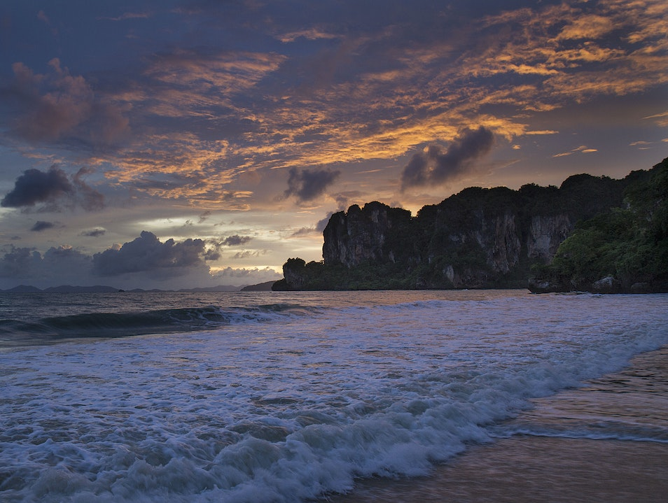 A dashing sunset Tambon Ao Nang  Thailand