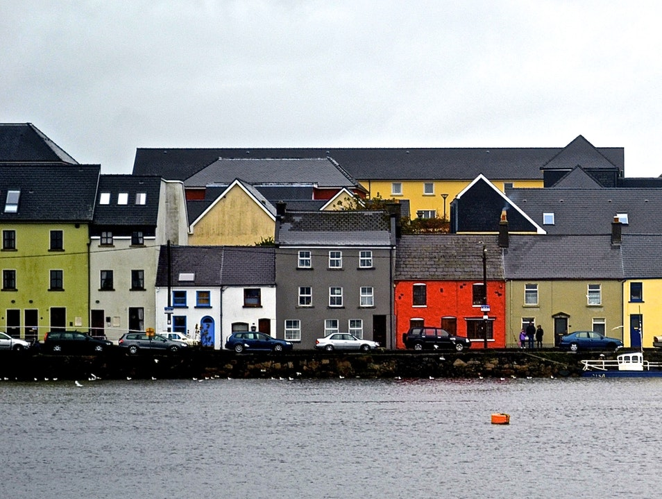 Fairy-tale houses in Galway Galway  Ireland