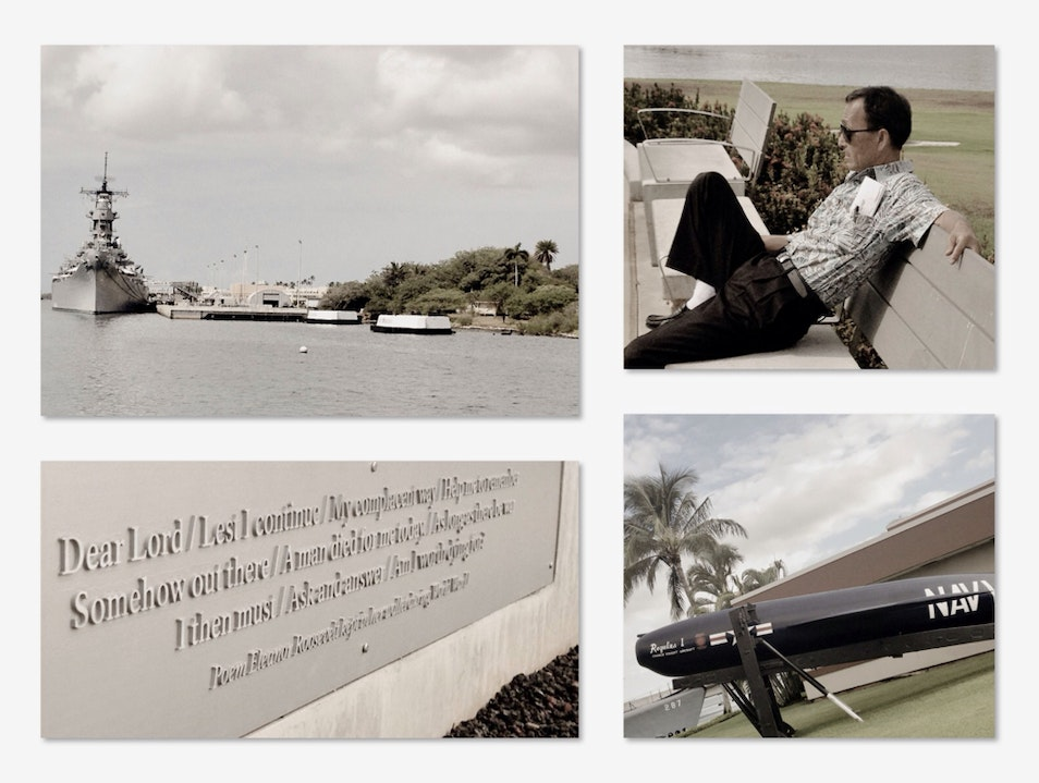 Contemplation at Pearl Harbor Ewa Beach Hawaii United States