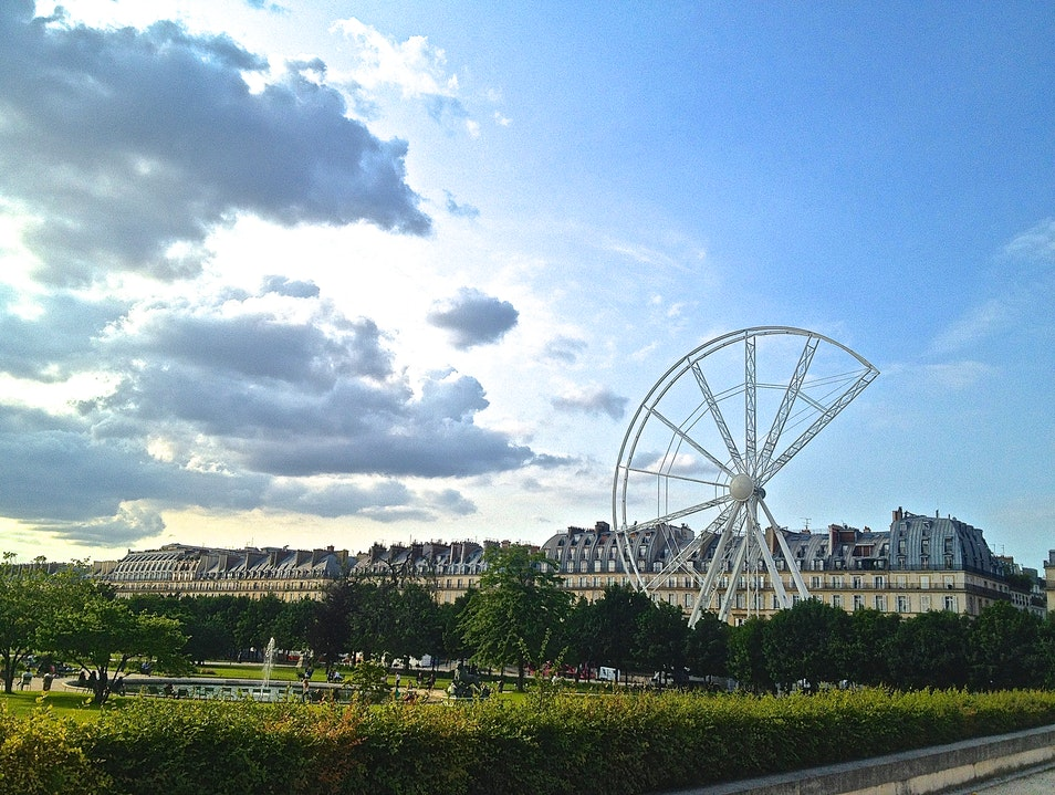 Summer Ferris Wheel Paris  France