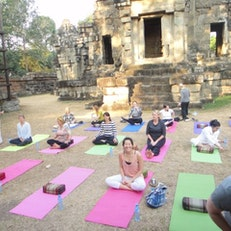 Yoga At The Temple Steps