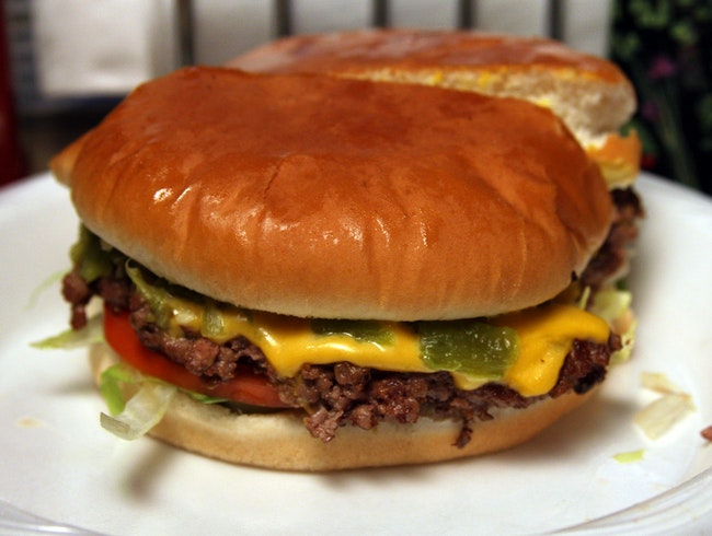 Sample a Green Chile Burger