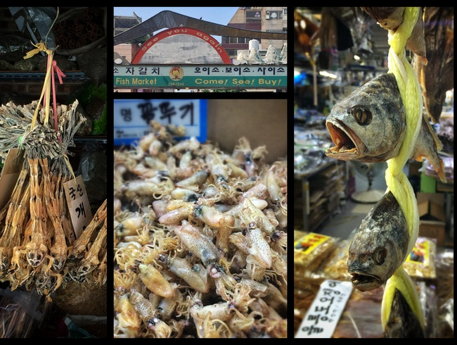 Freshly dried: preserved in Busan's Jagalchi Seafood Market