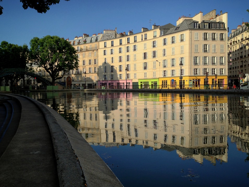 Where to run in Paris? Along the Canal Saint-Martin Paris  France
