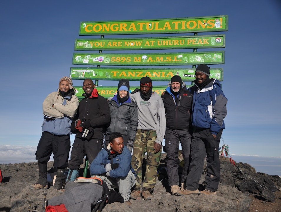 Summiting Mt. Kilimanjaro 19,341 ft: the highest Mountain in Africa   Tanzania