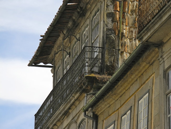 Vintage Architecture in Old Chaves, Portugal
