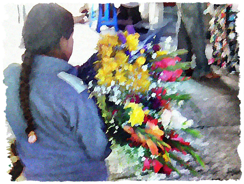 Shop (or stop) and smell the flowers Cusco  Peru