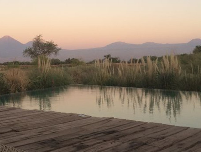 YOUR OWN OASIS IN THE DESERT, WITH GUIDES, AN INCREDIBLE POOL, GOURMET MEALS… AND NICE THREAD COUNT