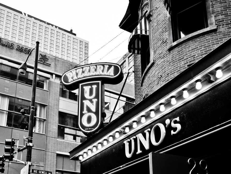Original Deep Dish Pizza at Uno's Chicago Illinois United States