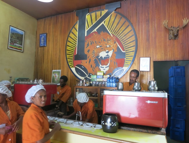 Coffee from the Source in Addis Ababa
