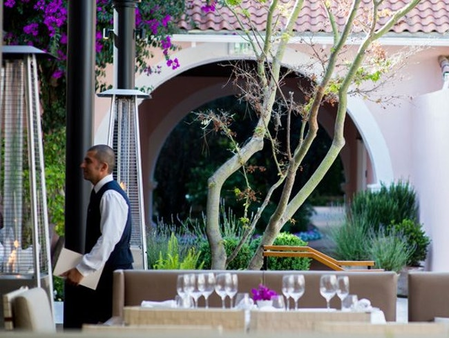 Lunch outside at Hotel Bel-Air