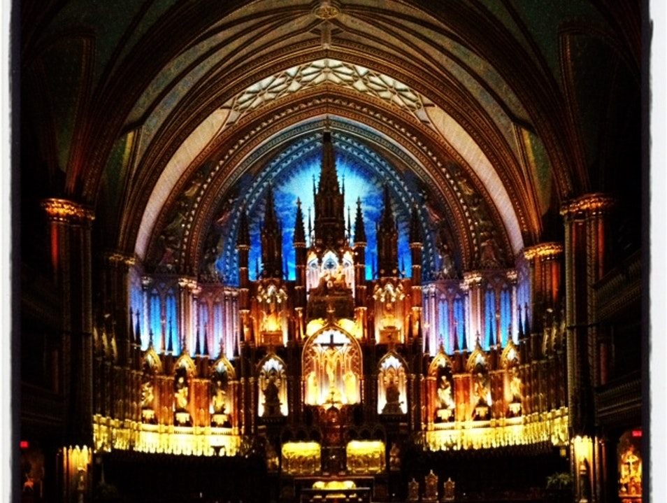 Notre Dame Basilica in Montreal Montreal  Canada