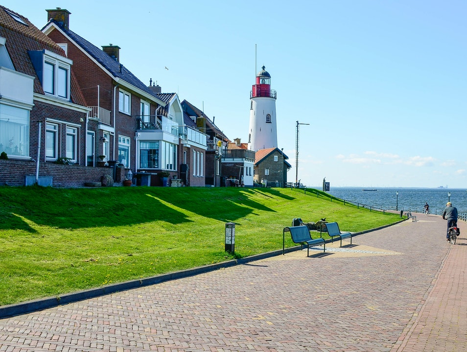 The lighthouse in Urk Urk  The Netherlands