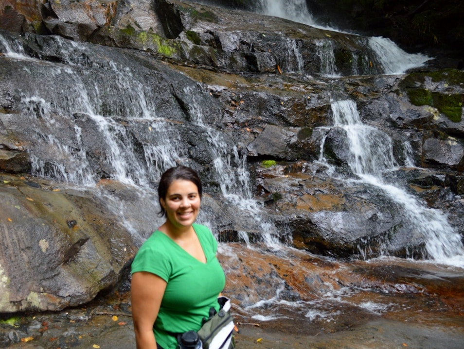 Short Hike to a Big Falls Gatlinburg Tennessee United States