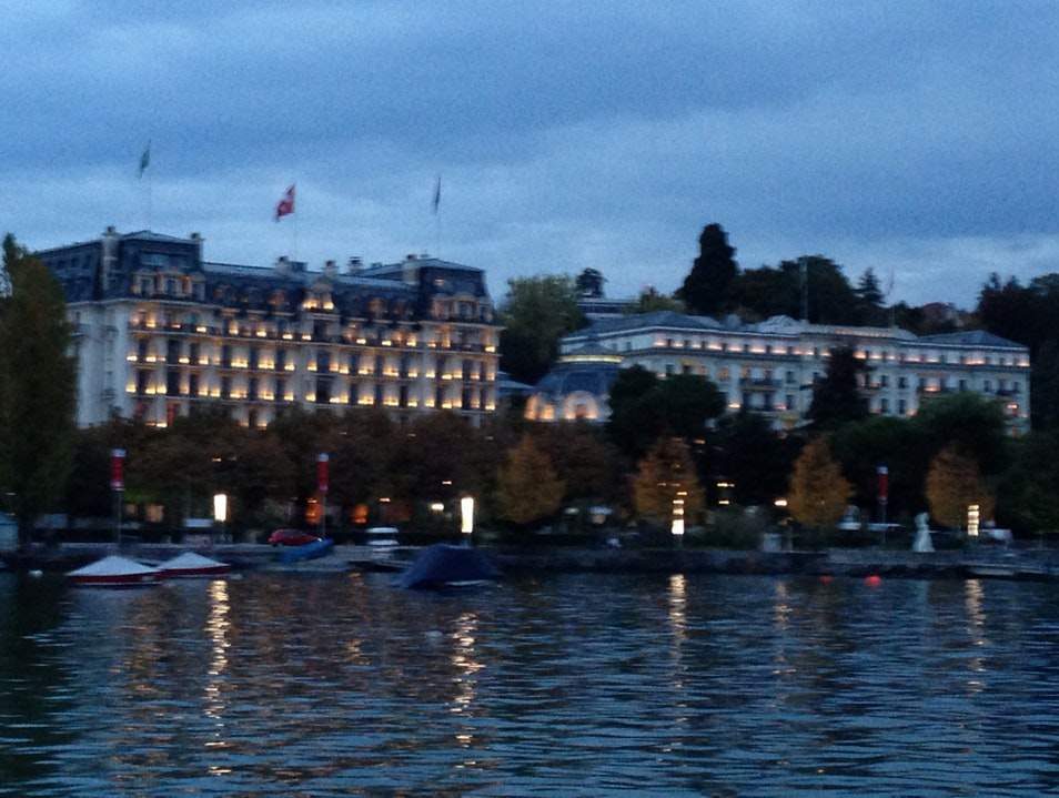 Palaces by the lake Lausanne  Switzerland