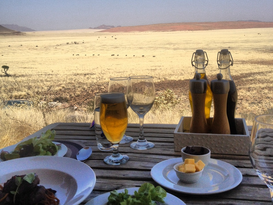 Amazing meals in Namibia Sesriem  Namibia