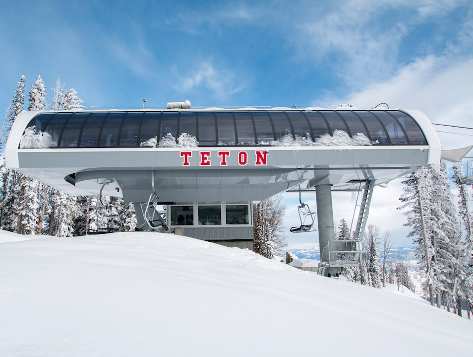 The New Teton Lift is open! Jackson Wyoming United States