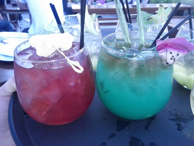 Tropical Drinks on The Terrace