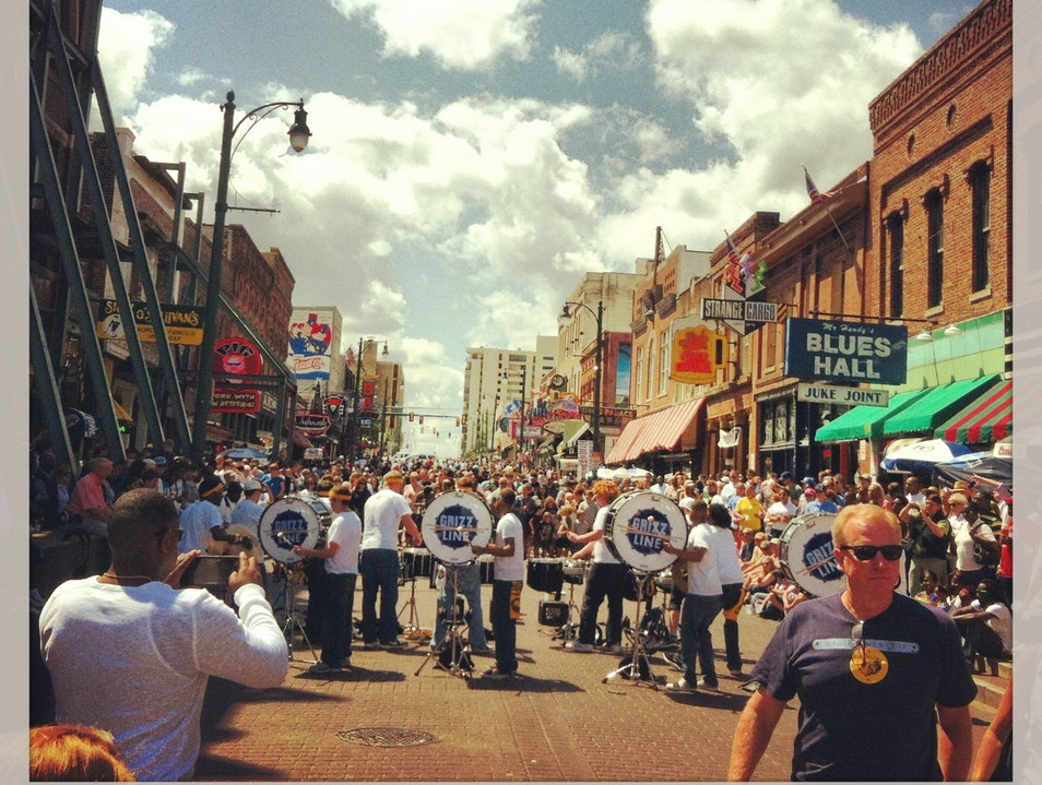Celebrating the Blues on Beale Street Memphis Tennessee United States