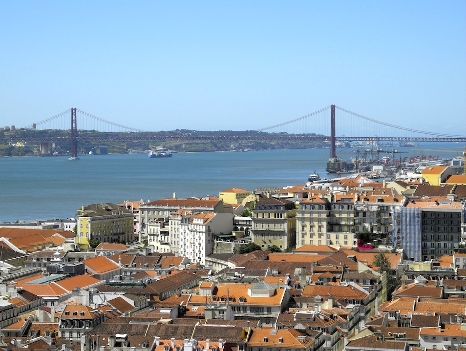 A View of Lisbon from the Castle Lisbon  Portugal