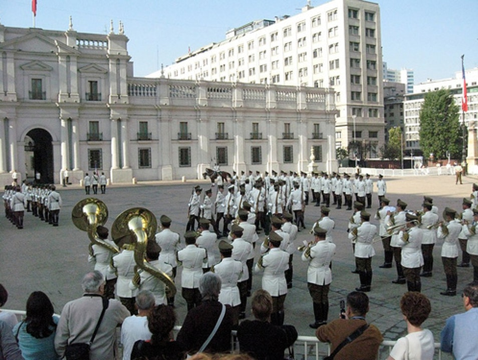 Changing of the Guard at Chilean Government Palace Santiago  Chile