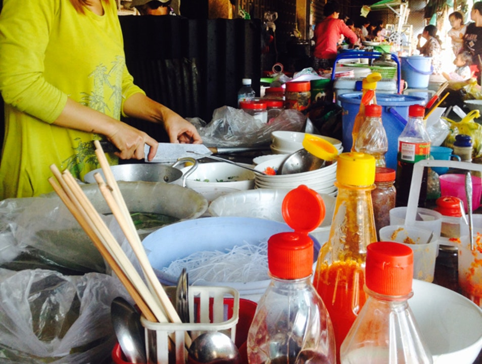 Breakfast At Kep Market Krong Kaeb  Cambodia