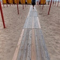 A different kind of boardwalk De Panne  Belgium